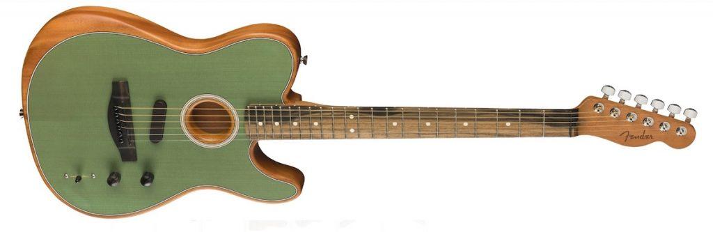 The Fender Tele gets acoustic
